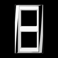 JUNG Рамка 2-кратная для серии Aplus; полированный хром-белый