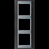 JUNG Рамка 3-кратная для серии Aplus; антрацит-алюминий