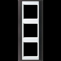 JUNG Рамка 3-кратная для серии Aplus; антрацит-белый