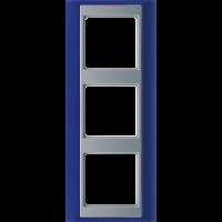 JUNG Рамка 3-кратная для серии Aplus; синий-алюминий