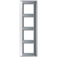 JUNG Рамка 4-кратная для серии Aplus; алюминий