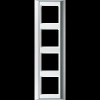 JUNG Рамка 4-кратная для серии Aplus; алюминий-белый