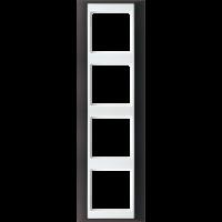 JUNG Рамка 4-кратная для серии Aplus; антрацит-белый