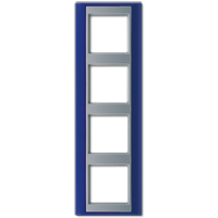JUNG Рамка 4-кратная для серии Aplus; синий-алюминий