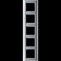 JUNG Рамка 5-кратная для серии Aplus; алюминий