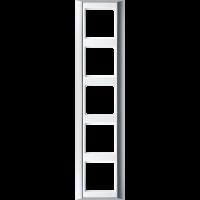 JUNG Рамка 5-кратная для серии Aplus; алюминий-белый