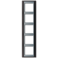 JUNG Рамка 5-кратная для серии Aplus; антрацит-алюминий