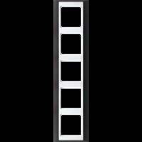 JUNG Рамка 5-кратная для серии Aplus; антрацит-белый