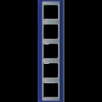 JUNG Рамка 5-кратная для серии Aplus; синий-алюминий