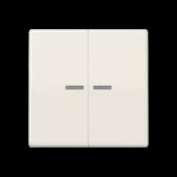 JUNG Клавиши для сдвоенного выключателя с окошком для подсветки; термопласт; слоновая кость