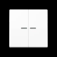 JUNG Клавиши для сдвоенного выключателя с окошком для подсветки; термопласт; белые