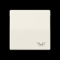 """JUNG Клавиша для выключателя с символом """"свет""""; слоновая кость"""