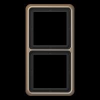 JUNG Рамка для вертикальной и горизонтальной установки, 2-кратная; золотая бронза