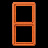 JUNG Рамка для вертикальной и горизонтальной установки ударопрочная, 2-кратная; оранжевая