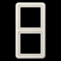 JUNG Рамка для вертикальной и горизонтальной установки ударопрочная, 2-кратная; слоновая кость