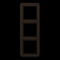 JUNG Рамка для вертикальной и горизонтальной установки, 3-кратная; коричневая
