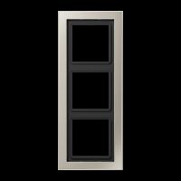 JUNG Рамка 3-кратная; благородная сталь