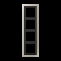 JUNG Рамка 4-кратная; благородная сталь, лакированная