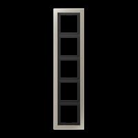 JUNG Рамка 5-кратная; благородная сталь, лакированная