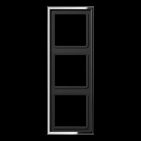 JUNG Рамка 3-кратная; полированный хром