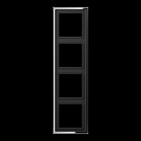 JUNG Рамка 4-кратная; полированный хром