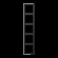 JUNG Рамка 5-кратная; полированный хром