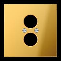 JUNG Крышка для 2-х гнезд подключения громкоговорителя; металл цвета золота