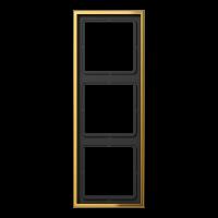JUNG Рамка 3-кратная; металл цвета золота