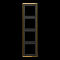 JUNG Рамка 4-кратная; металл цвета золота