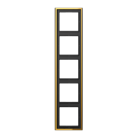 JUNG Рамка 5-кратная; металл цвета золота
