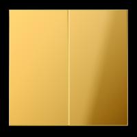 JUNG Клавиши для сдвоенного выключателя; металл цвета золота