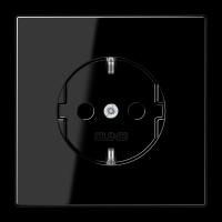 JUNG Штепсельная розетка SCHUKO 16A, 250V~ с защитой от детей; черная