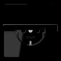 JUNG Штепсельная розетка SCHUKO 16A, 250V~ с откидной крышкой; черная