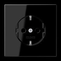 JUNG Штепсельная розетка SCHUKO 16A, 250V~; черная