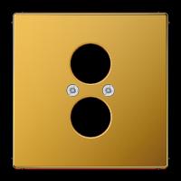 JUNG Крышка для 2-х гнезд (разъемов для громкоговорителей); золото