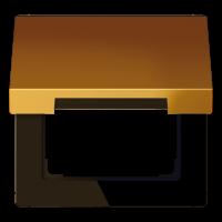 JUNG Крышка откидная для штепсельных розеток с платой 50?50 мм; золото