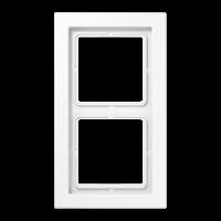 JUNG Рамка 2-кратная; белая,ударопрочная
