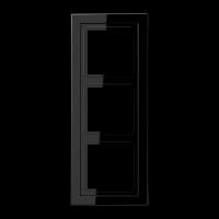 JUNG Рамка 3-кратная; чёрная
