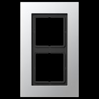 JUNG Рамка для серии LS-Plus 2-кратная; алюминий