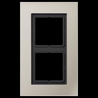 JUNG Рамка для серии LS-Plus 2-кратная; благородная сталь