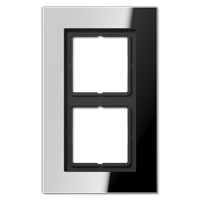 JUNG Рамка для серии LS-Plus 2-кратная; полированный хром