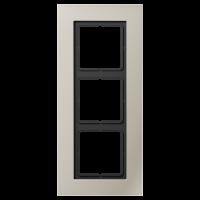 JUNG Рамка для серии LS-Plus 3-кратная; благородная сталь