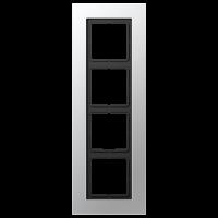 JUNG Рамка для серии LS-Plus 4-кратная; алюминий