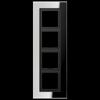 JUNG Рамка для серии LS-Plus 4-кратная; полированный хром