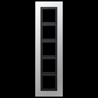 JUNG Рамка для серии LS-Plus 5-кратная; алюминий