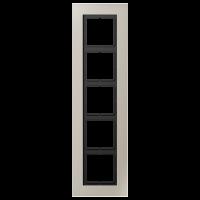 JUNG Рамка для серии LS-Plus 5-кратная; благородная сталь