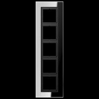 JUNG Рамка для серии LS-Plus 5-кратная; полированный хром