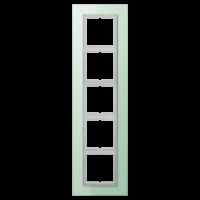 JUNG Рамка для серии LS-Plus 5-кратная; стекло