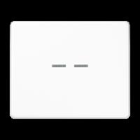 JUNG Клавиши для сдвоенного выключателя с подсветкой; белые