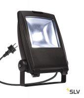 FLOOD LIGHT 25 светильник IP65 32Вт с LED 5700К, 2350лм, 90°, кабель 2м с вилкой, черный (ex 231162)